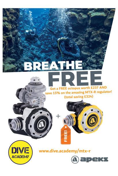Apeks MTX-R regulator with FREE octopus