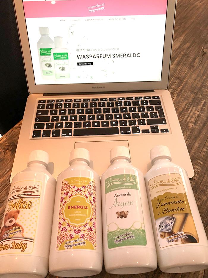 Vier nieuwe geuren Wasparfum