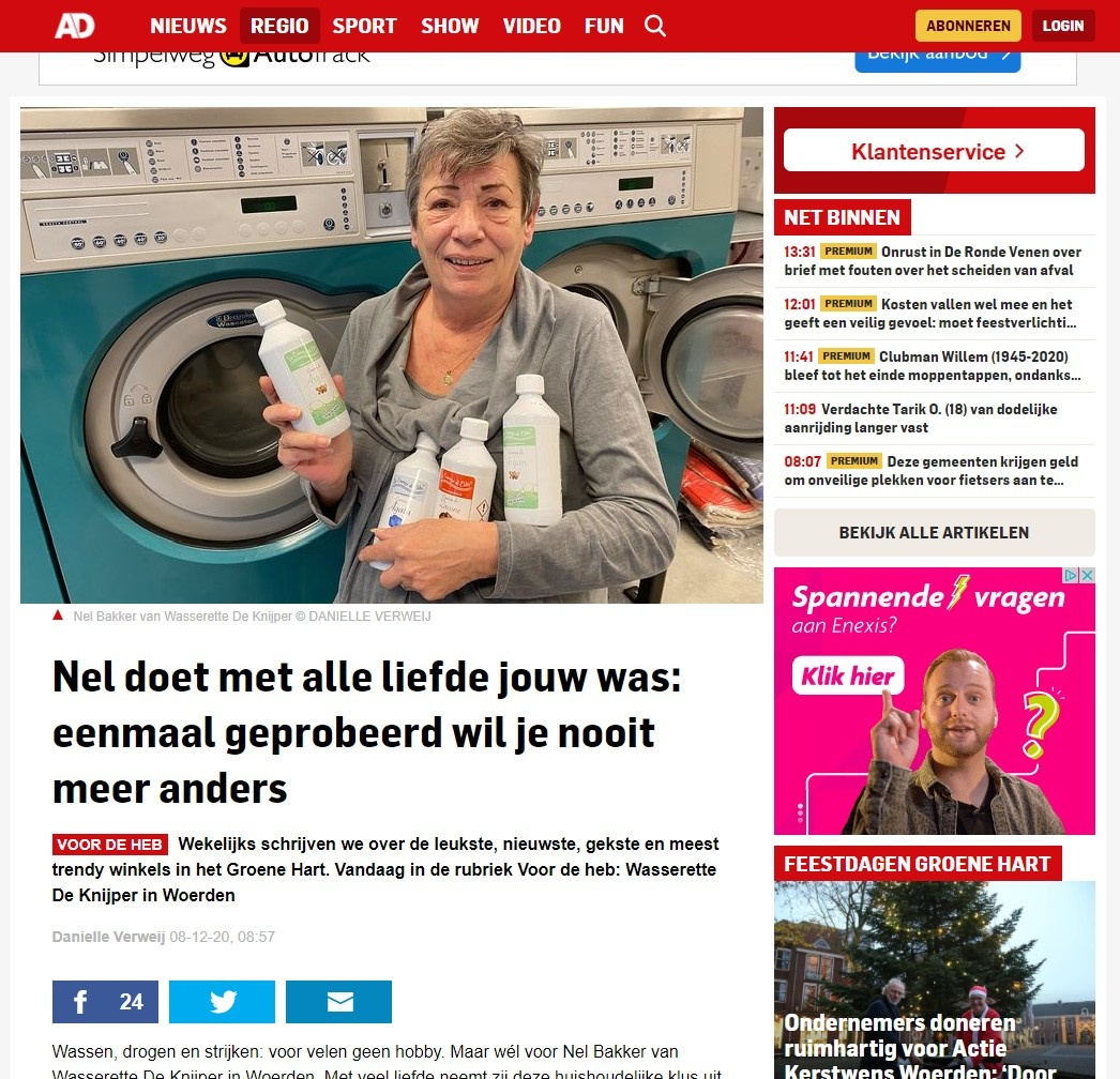Wasparfum op AD.nl