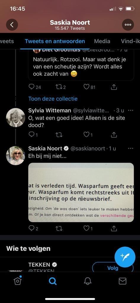 Sylvia Witteman en Saskia Noort over Wasparfum