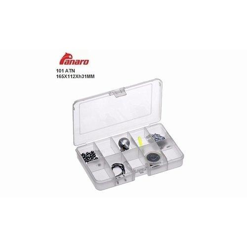 PANARO 10 VAKS BOX TRANSPARANT 16.5 X 11 X 3 CM