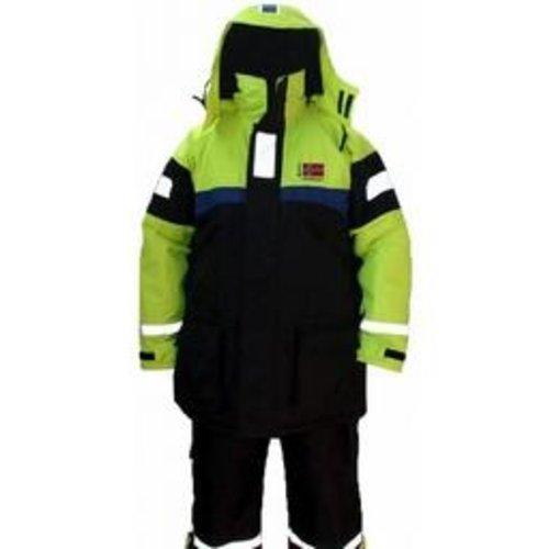 MULTEX DRIJFPAK 2 DLG TEAM NORWAY ZWART / GEEL ISO-12402