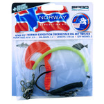 NORWAY EXPEDITION LIVE BAIT RIGS WITH WORM SHAD #8/0 1.20 MM