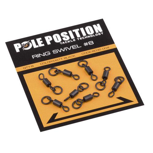 POLE POSITION BLACK RING SWIVEL #8 P/8
