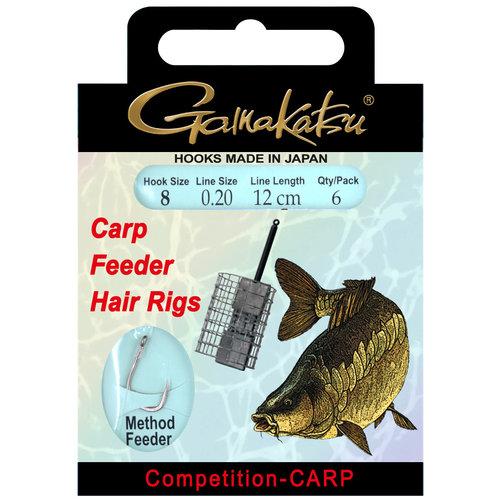 GAMAKATSU BKS-3323B CARP FEEDER HAIR RIG 12 CM P/6