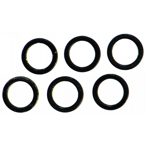 RIGSOLUTIONS BLACK COATED BIG EYE SAFETY RINGS 5.4 MM P/10