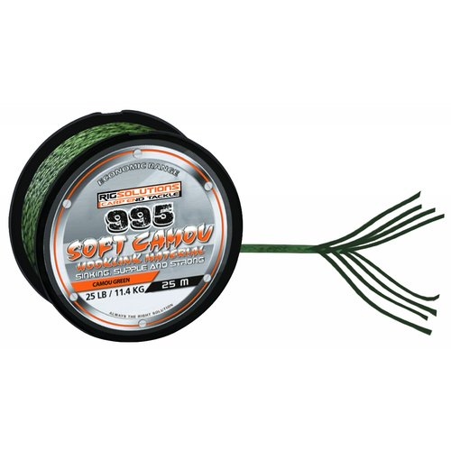 RIGSOLUTIONS 995 SOFT CAMOU 25 LB CAMOU GREEN 25 M