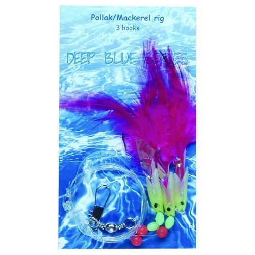 ALBATROS POLLACK/MACKEREL RIG 3 HAAKS PINK #3/0