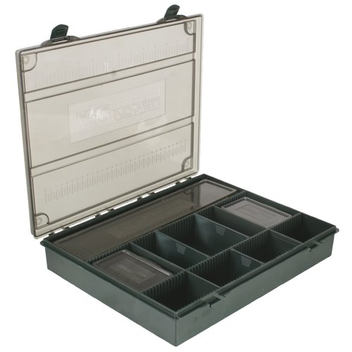 RIGSOLUTIONS COMPLETE TACKLE BOX SET DARK GREEN/GREY 36 X 26 X 5 CM