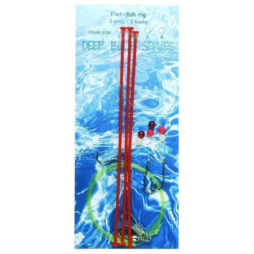 ALBATROS FLATFISH SEA RIG 3 ARM 3 HAAKS
