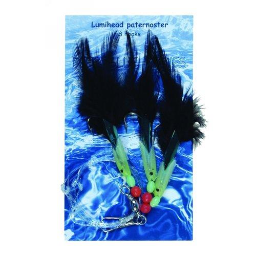 ALBATROS LUMIHEAD PATERNOSTER 3 HAAKS #1/0