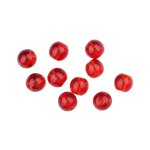 SPRO GLASS BULLET WEIGHT BEADS RED RUBY