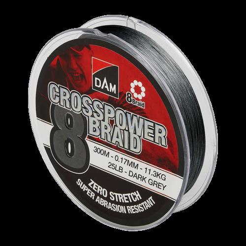 DAM CROSSPOWER 8 BRAID 150 MTR DARK GREY