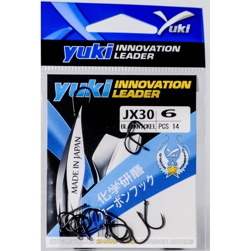 YUKI HOOKS BLACK NICKEL JX30
