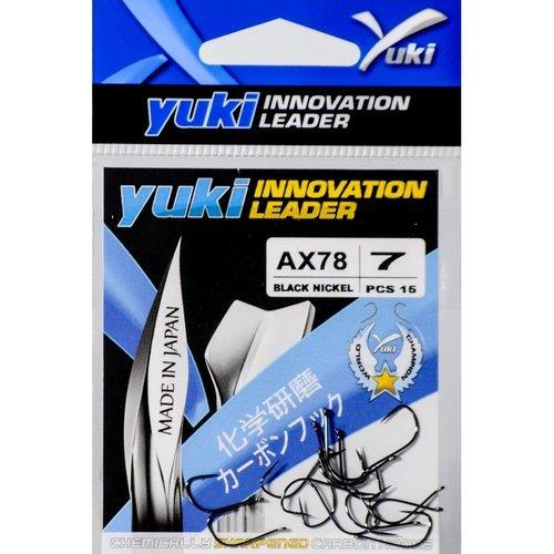 YUKI HOOKS BLACK NICKEL AX78