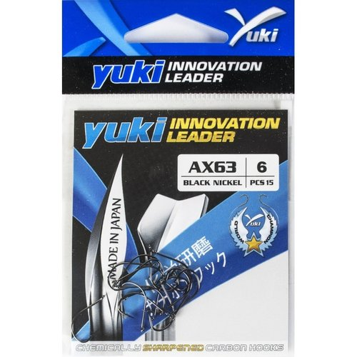 YUKI HOOKS BLACK NICKEL AX63