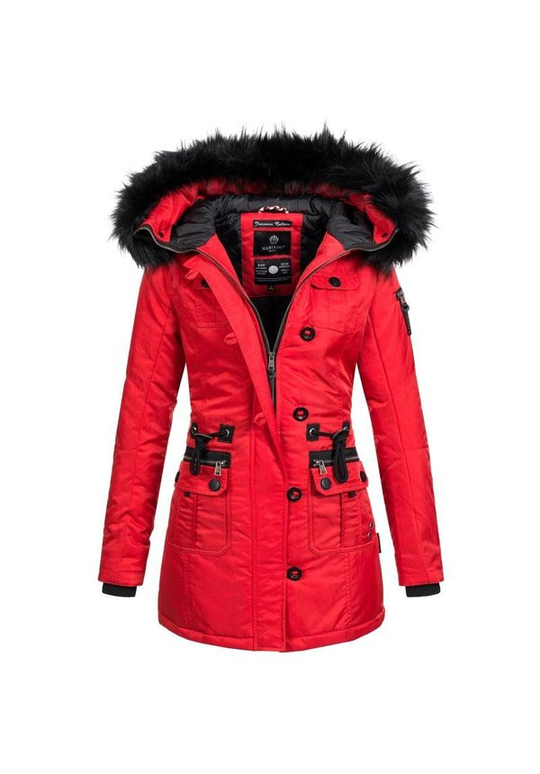 Warme Trendy Winterjas.Marikoo Elle Warm Dames Winter Jas Coat Parka Winterjas Rood Mashka