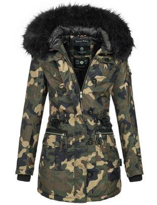 Marikoo Damen Winterjacke camouflage 729c48948d