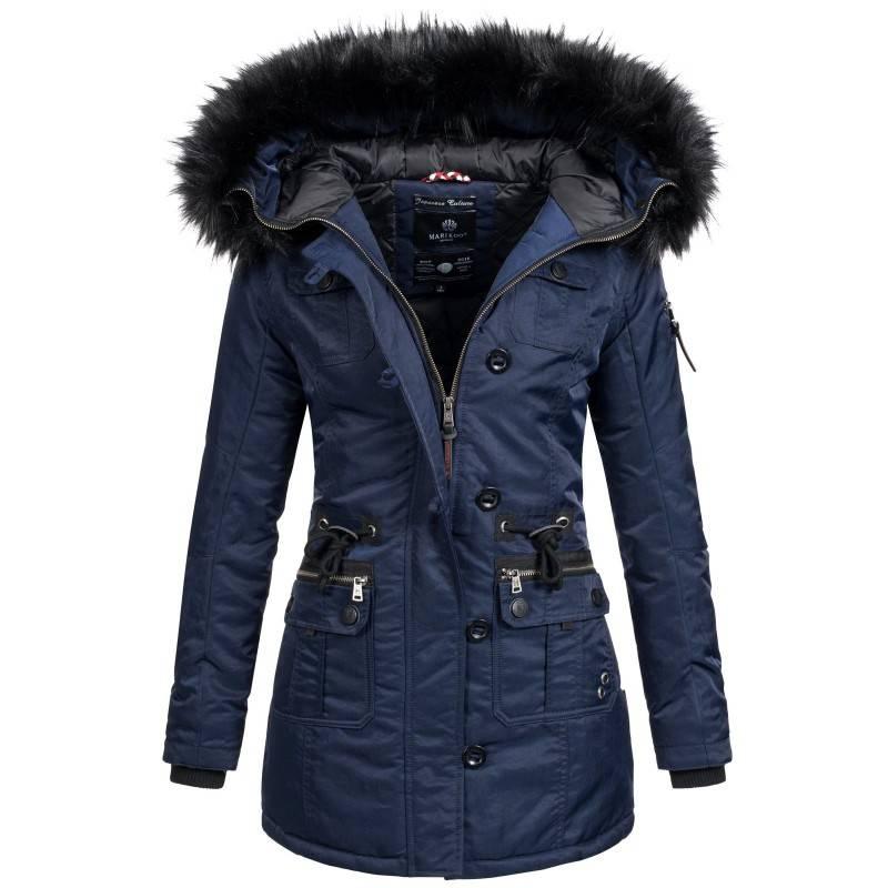 Warme Trendy Winterjas.Marikoo Elle Warm Dames Winter Jas Coat Parka Winterjas Rose Mashka