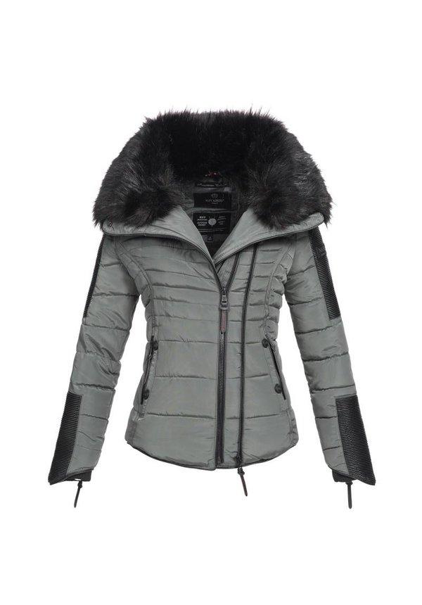 Navahoo stilvoll kurze Damen Winterjacke grau