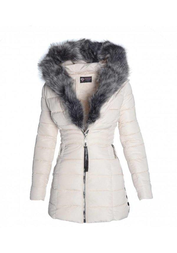 winterjas dames wit