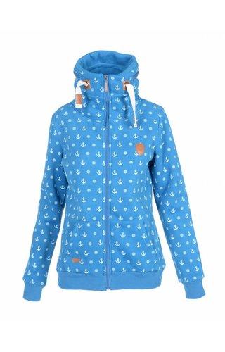 Becool Be cool vest met ankers donkerblauw