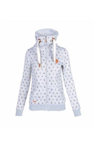 Becool Be cool vest met ankers coral grijs