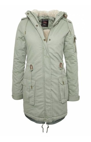Urban Surface Urban Surface Damen Parka mit ausdruck grün
