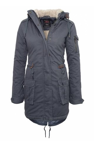 Urban Surface Urban Surface Damen Parka mit ausdruck blau