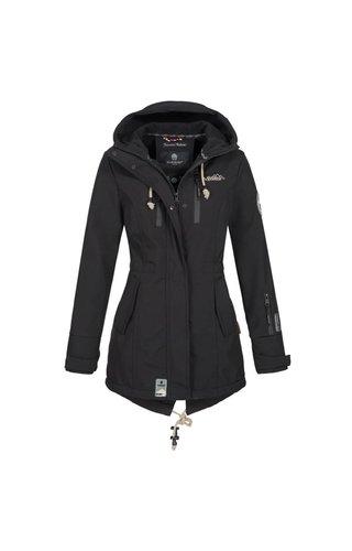 Marikoo Marikoo Damen Winterjacke softshell auswärts Regenjacke schwarz