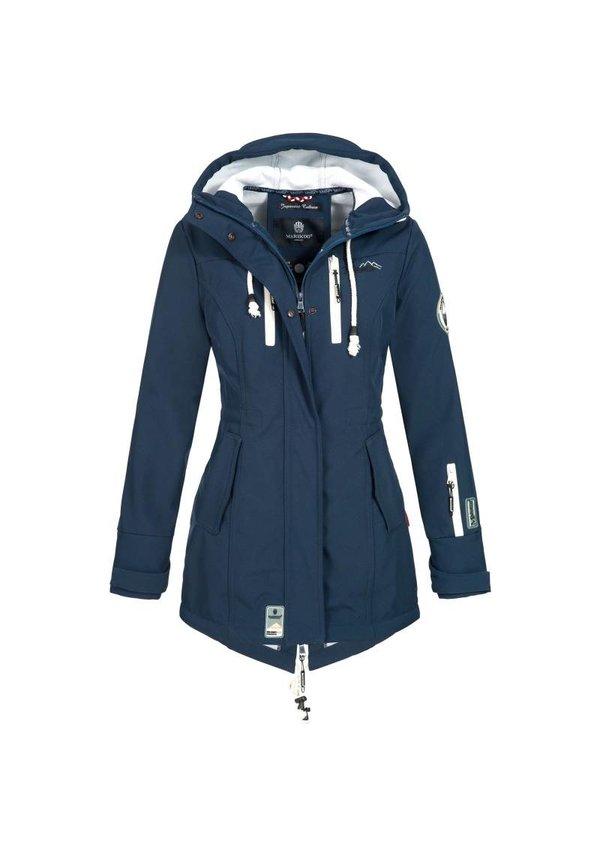 Marikoo Damen Winterjacke softshell auswärts Regenjacke blau