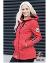 Marikoo Damen Winterjacke softshell auswärts Regenjacke rot
