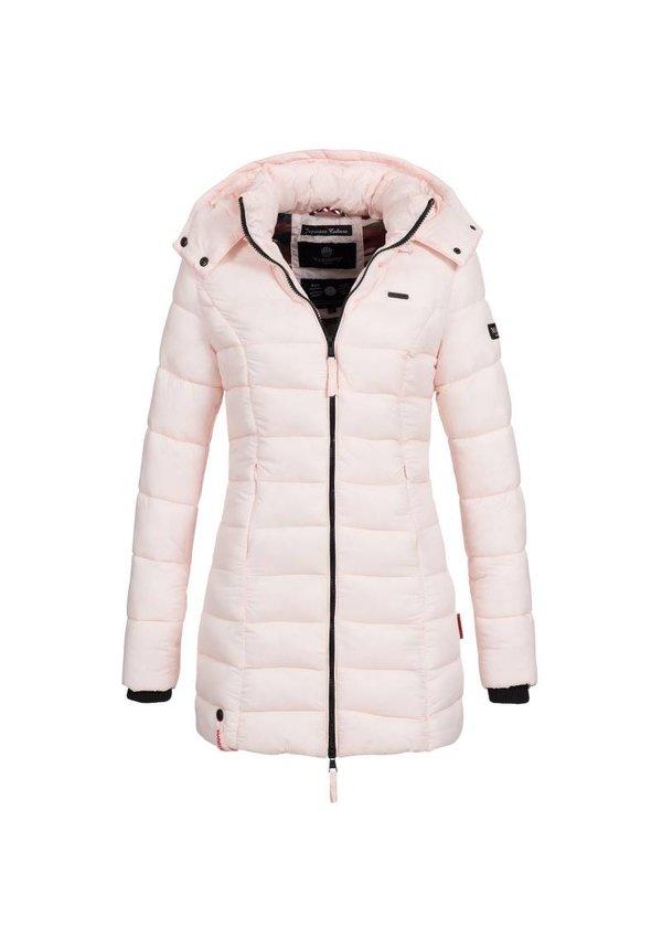 Marikoo Damen gesteppte Jacke mit kapuze ozean rosa