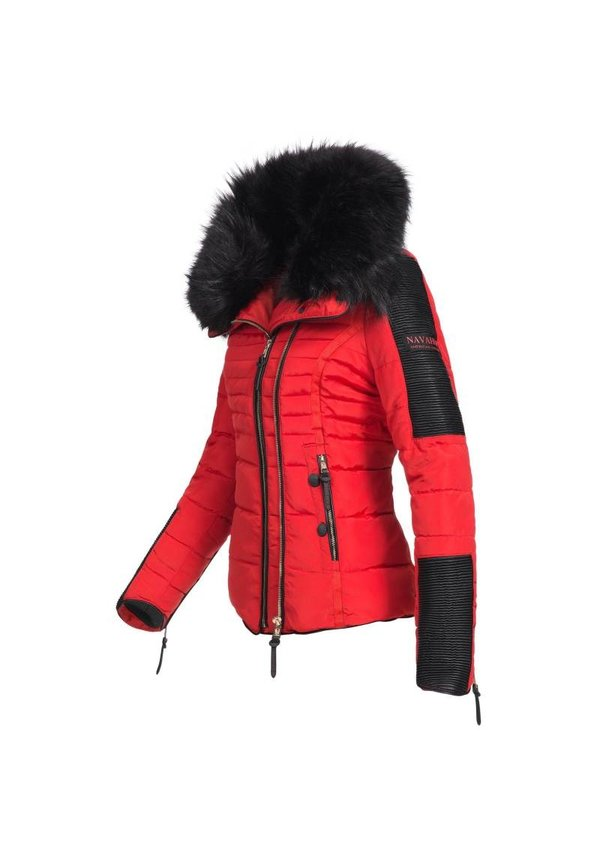 Navahoo stilvoll kurze Damen Winterjacke rot