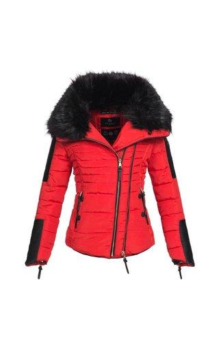 Navahoo Navahoo stijlvolle korte dames winterjas rood