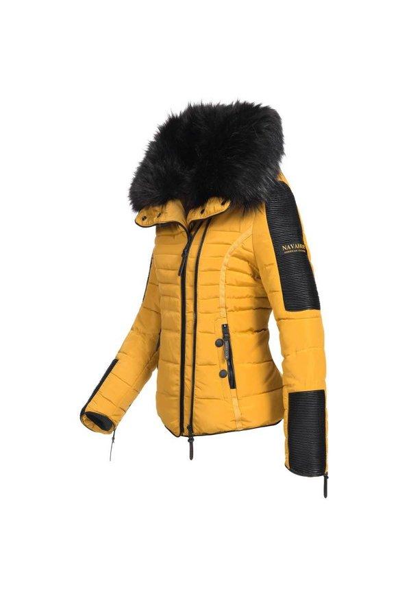 Navahoo stilvoll kurze Damen Winterjacke gelb