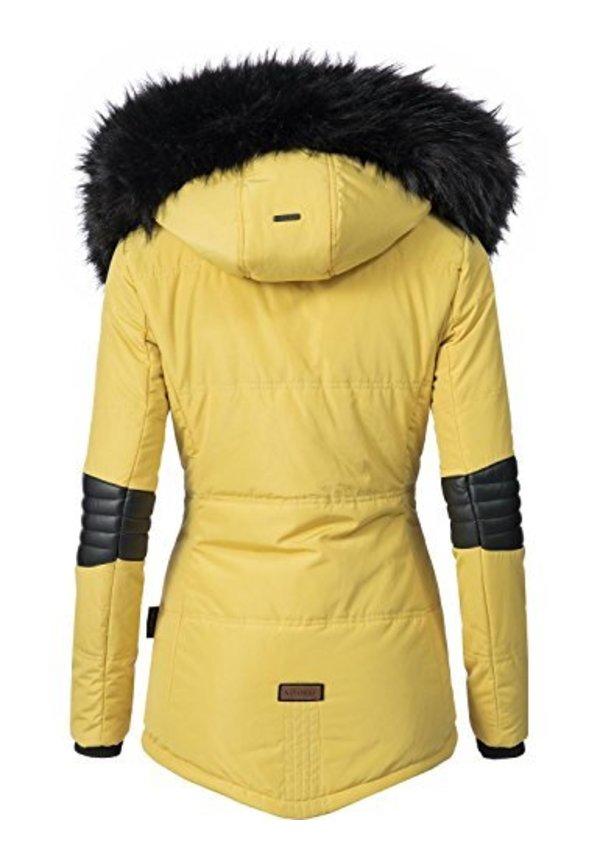 Navahoo Winterjacke Damen Parka gelb