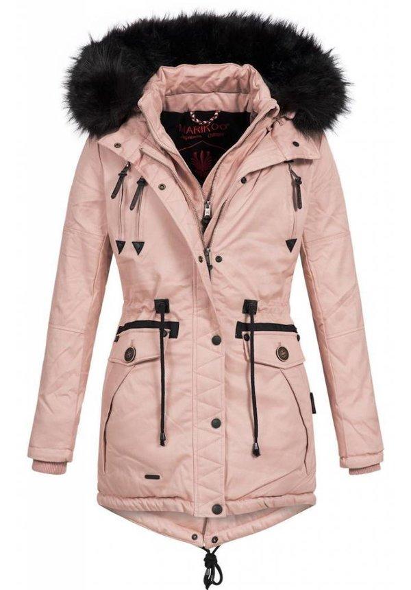 Marikoo Winterjacke mit  doppelverschluß rosa