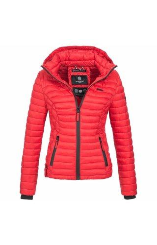 Marikoo Marikoo kort gewatteerde dames jas rood