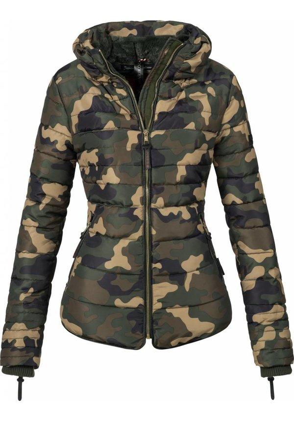 Marikoo Amber gesteppte Damenjacke Camouflage