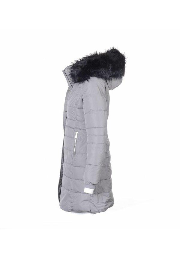 Modegram Damen Mantel Parka grau