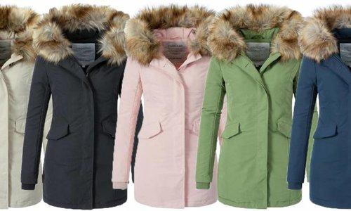 Modegram dames parka jassen met bontkraag