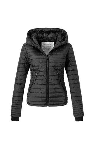 Modegram Modegram Damen gesteppte Jacke schwarz