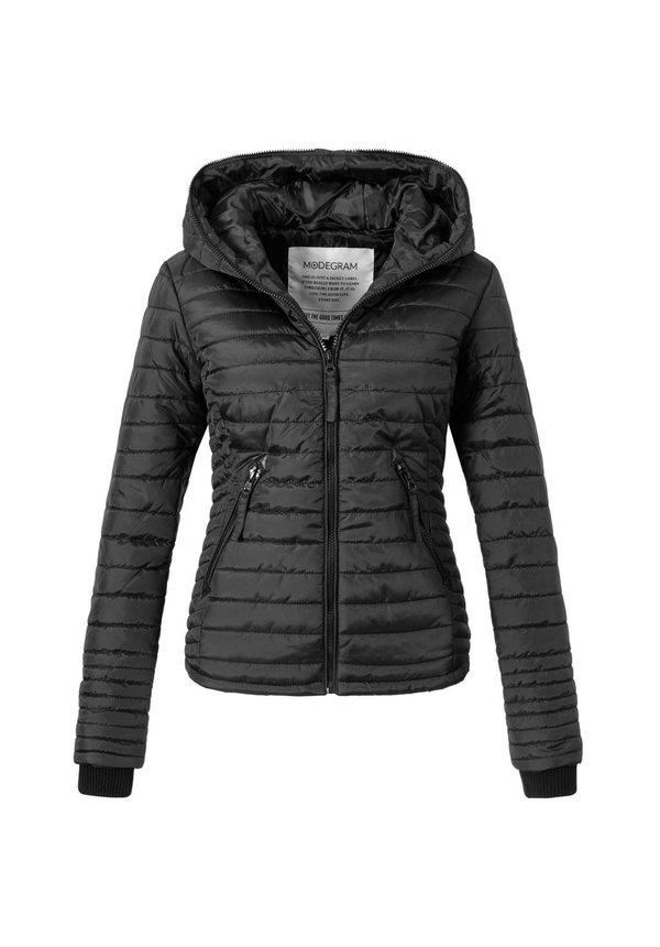 Modegram Damen gesteppte Jacke schwarz