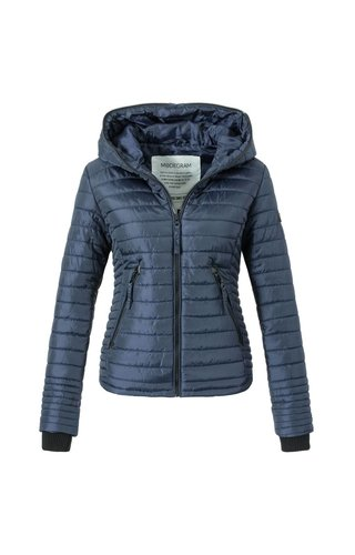 Modegram Modegram Damen gesteppte Jacke blau