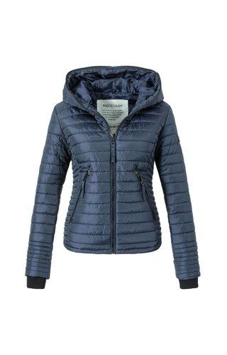 Modegram Modegram dames gewatteerde jas blauw