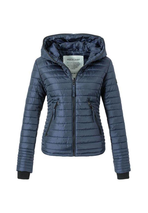 Modegram dames gewatteerde jas blauw