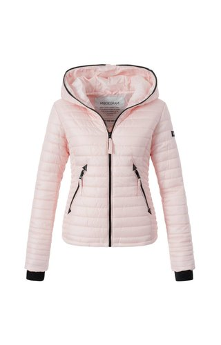 Modegram Modegram Damen gesteppte Jacke rosa