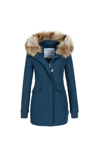 winterjas dames lichtblauw