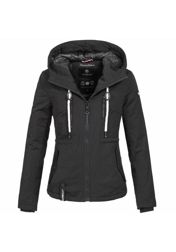 dames jas met capuchon   zwart